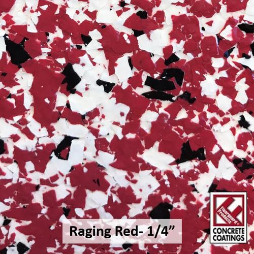 """RAGING RED- Granite Flake  1/4"""" (40 lb.)"""