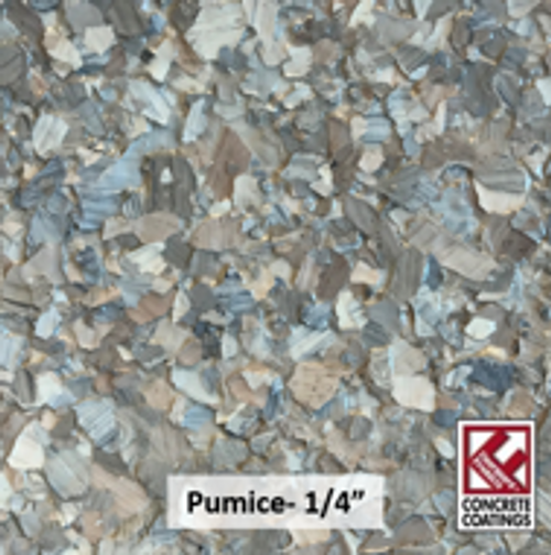 "PUMICE (Torginol's C-9303 Pumice)- Chipped Stone Flake- 1/4"" (40 lb.)"