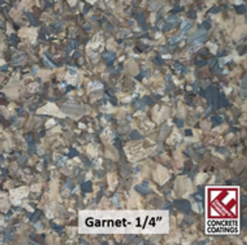 "GARNET (Torginol's C-9305 Garnet)- Chipped Stone Flake- 1/4"" (40 lb.)"