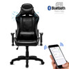 High-Back Swivel Gaming Chair Recliner with Bluetooth 4.1 Speakers & Lumbar Support & Headrest | Height Adjustable Ergonomic Office Desk Chair - Black
