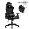 High-Back Swivel Gaming Chair Recliner with Bluetooth 4.1 Version Speakers & Lumbar Support & Headrest | Height Adjustable Ergonomic Office Desk Chair - Black