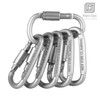 "Carabiner Clip, 3"" Aluminum Alloy D-ring Screw Lock Buckle Carabiner for Camping, Outdoor, Home, Rv, Fishing, Hiking, Traveling"