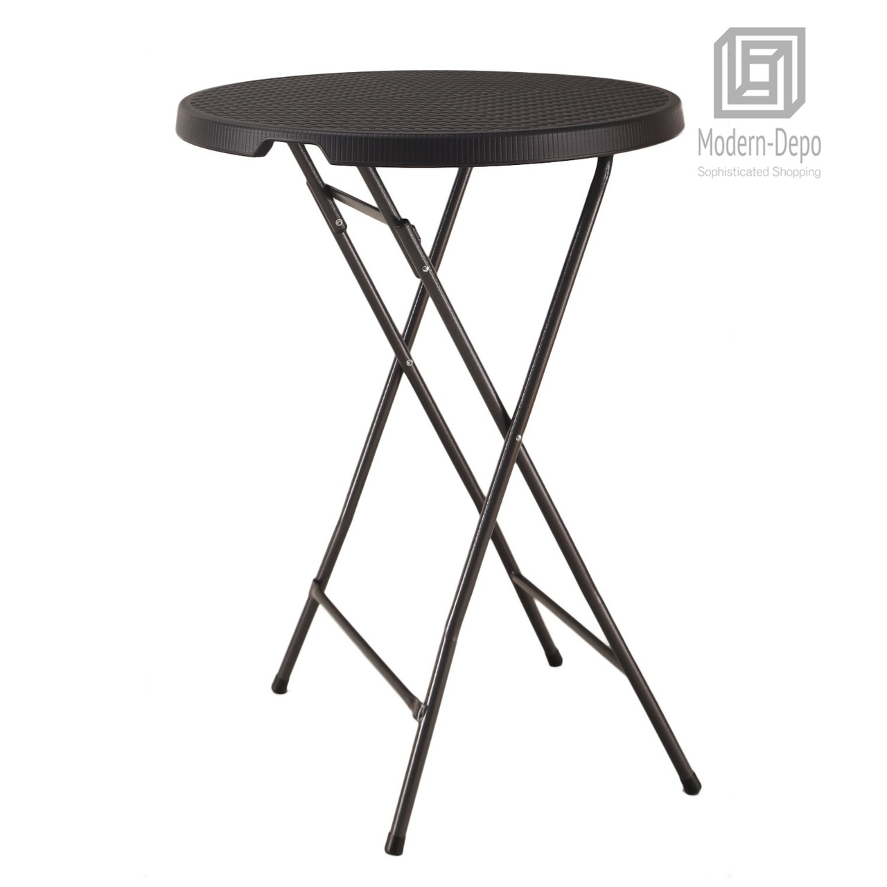 - Plastic Bar Height Folding Table Portable Round Bistro Patio Table