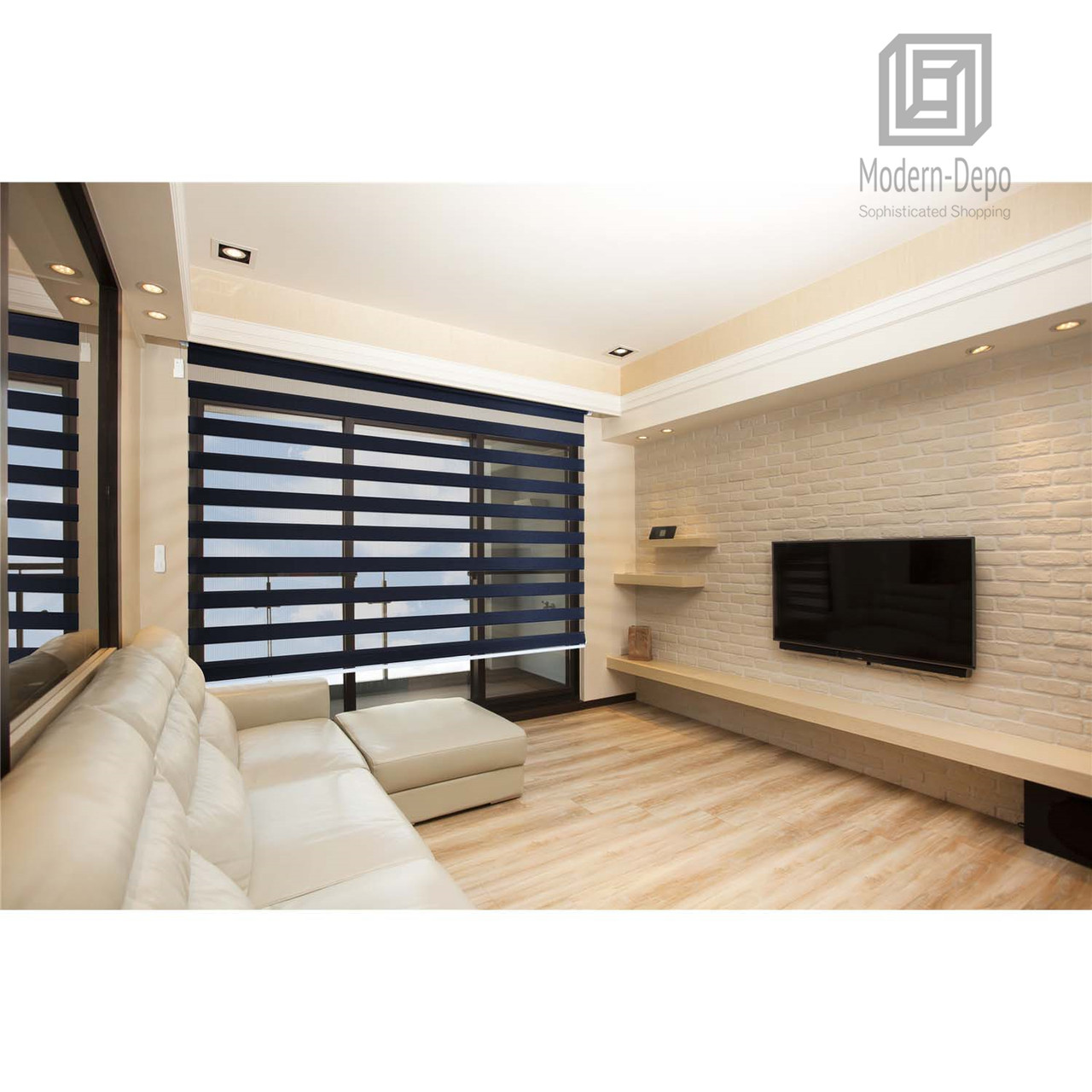 Zebra Design Roller Window Shades Motorized Remote Privacy Horizontal Blinds 35 W X 72 H Charcoal Modern Depo