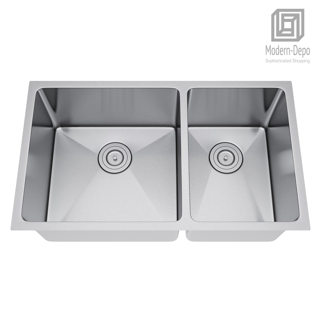 60 40 Kitchen Sink.Exclusive Heritage 32 X 19 Double Bowl 60 40 Undermount Stainless Steel Kitchen Sink With Strainer Ksh 3219 D6 Ubs