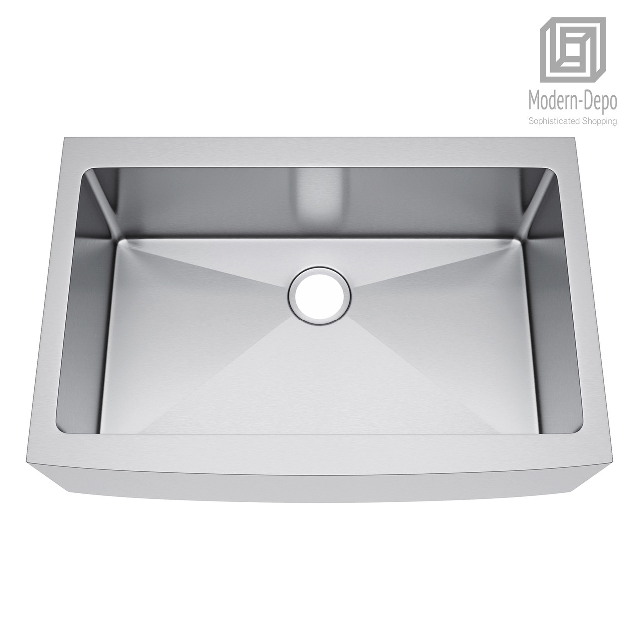 Exclusive Heritage 33 X 22 Single Bowl Stainless Steel Kitchen Farmhouse Apron Front Sink Ksh 3322 S Fb Modern Depo