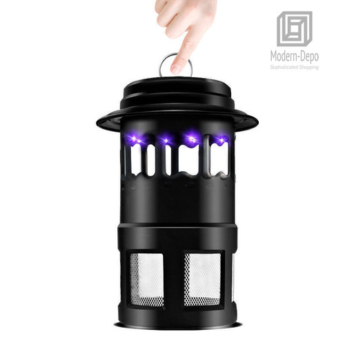 2nd Generation Mosquito Trap | 110V 4W Insect Killer Lamp with 8PCS LED Lights and 1 Powerful Fan (Black)