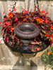 Cast Iron Trumpet Fluted Urn Vase Home Garden Ornament Planter