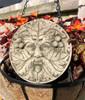 Reconstituted Stone Green Man Plaque Home Garden Statue
