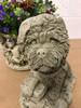 Reconstituted Stone Christmas Santa Dog Statue Garden Ornament