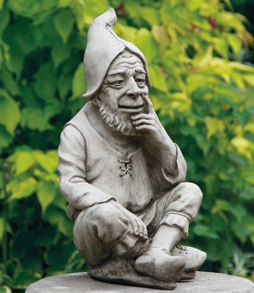 A large, strong gnome made from reconstituted limestone.