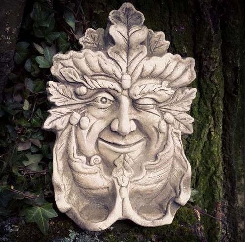 Reconstituted Stone Tealight Greenman