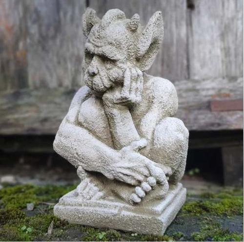 Reconstituted Stone Resting Gargoyle Statue