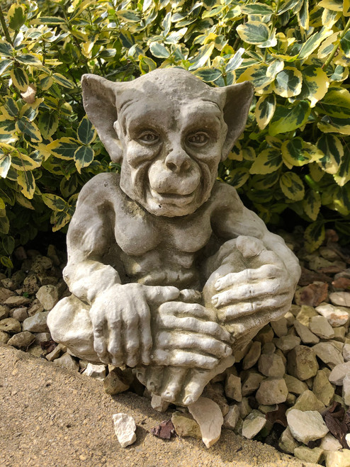Reconstituted Stone Sprite Gremlin Gargoyle Statue Home Garden Ornament