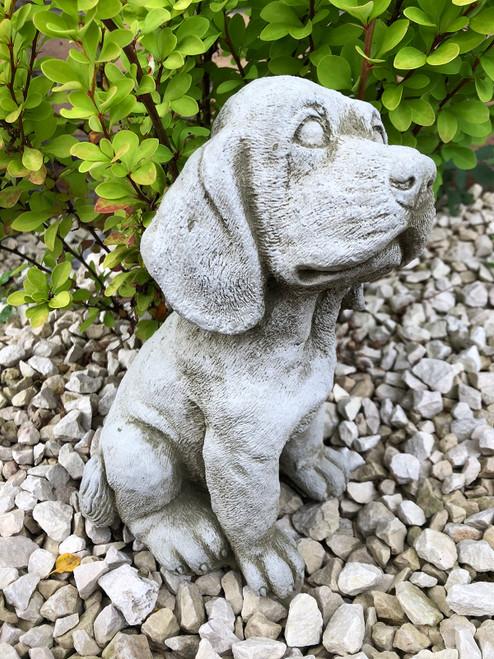 Reconstituted Stone Spaniel Dog Statue Home Garden Ornament