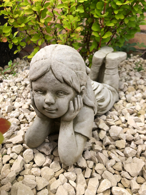 Reconstituted Stone Daydream Girl Home Garden Ornament