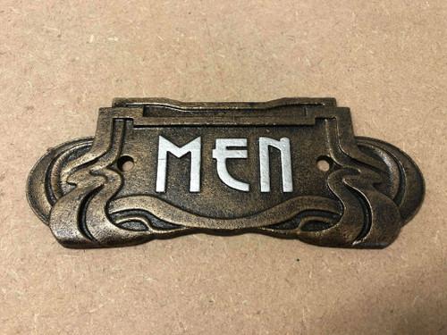 Cast Iron Mens Toilet Sign | Art Nouveau