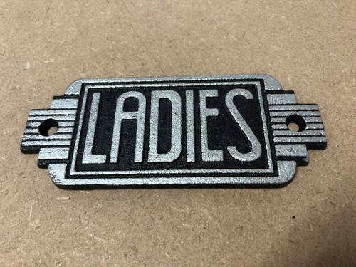 Cast Iron Ladies Sign | Art Deco