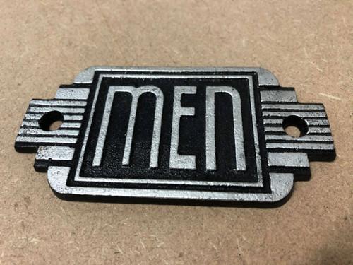 Cast Iron Mens Sign | Art Deco