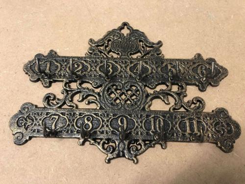 Cast Iron Hanging Key Rack | Bronze Finish