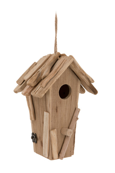 Galloway Rustic Pale Wood Bird House