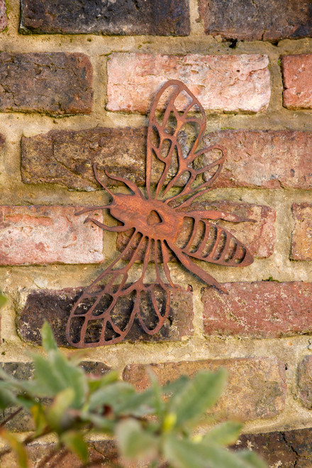 Large Metal Bumble Bee Wall Plaque