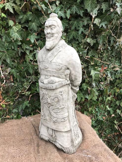 Reconstituted Stone Oriental Emperor Statue