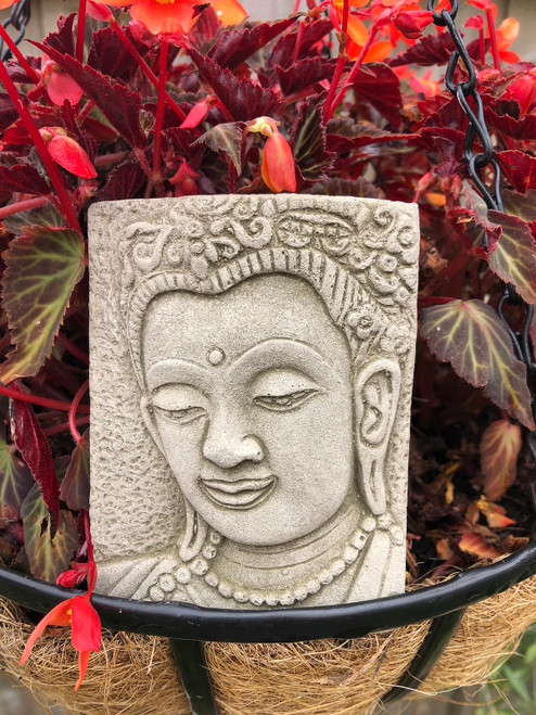 Reconstituted Stone Oriental Thai Buddha Plaque Sign