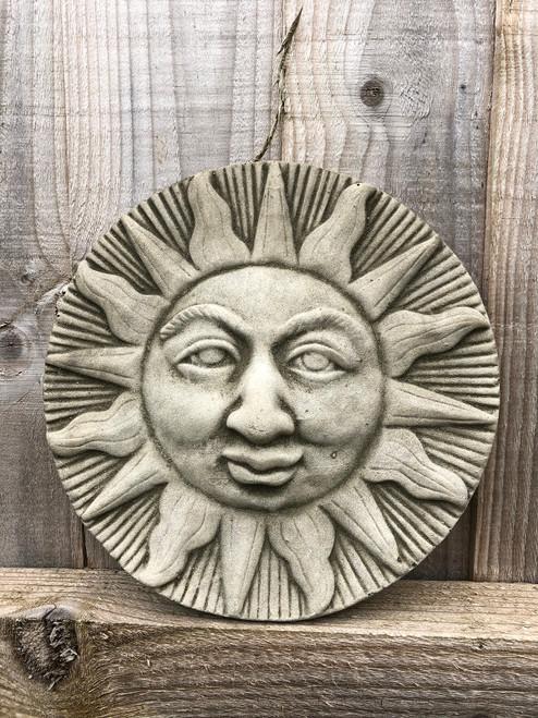 Reconstituted Stone Sun Plaque Sign