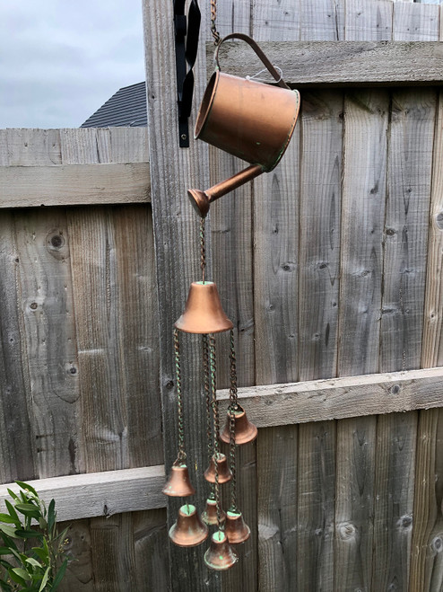 Metal Watering Can Wind Chime Garden Ornament