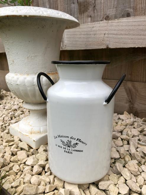 Vintage Style Metal Milk Churn