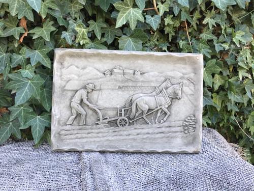 Horse and Plough Farm Stone Plaque