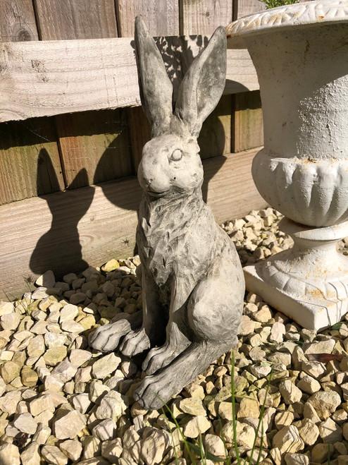 Reconstituted Stone Bunny Rabbit Garden Home Statue