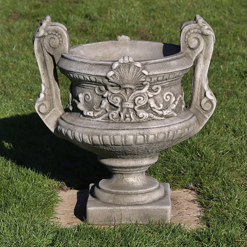 Reconstituted Stone Limestone Handled Urn Planter Trough Vase Garden Ornament