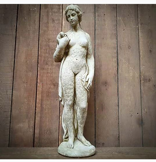 Reconstituted Stone Dove Girl Large Roman Greek Garden Ornament Statue