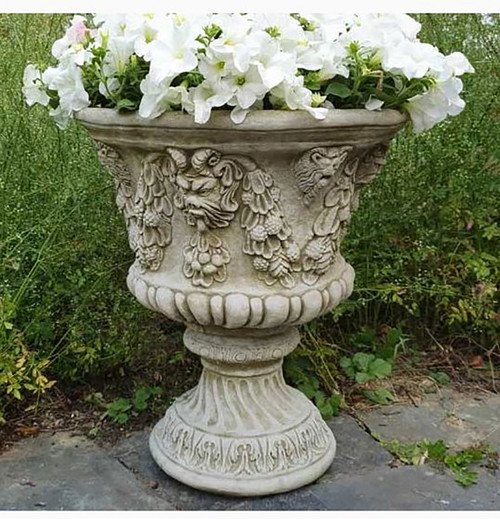 Reconstituted Stone Bacchus Urn Vase Planter Garden Ornament