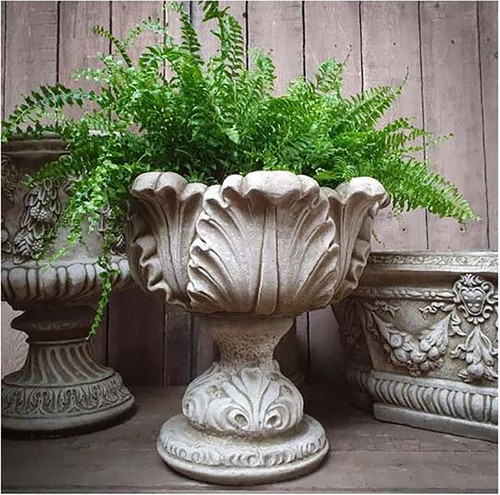 Reconstituted Stone Urn Vase Trough Planter Garden Ornament