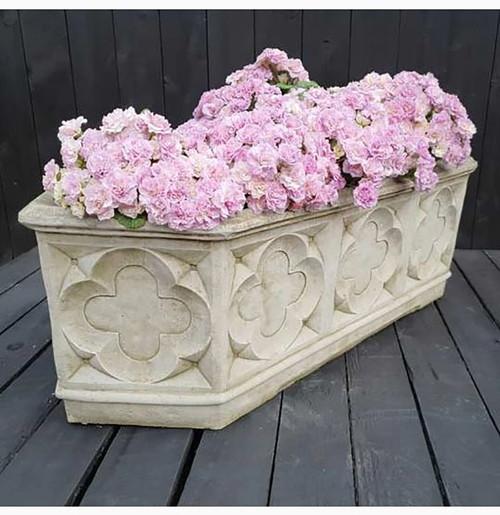 Reconstituted Stone Large Gothic Trough Planter Vase Garden Ornament
