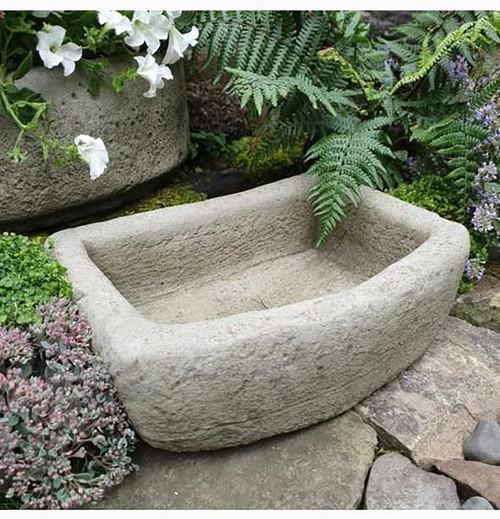 Reconstituted Stone Rough Cut Trough Planter Vase