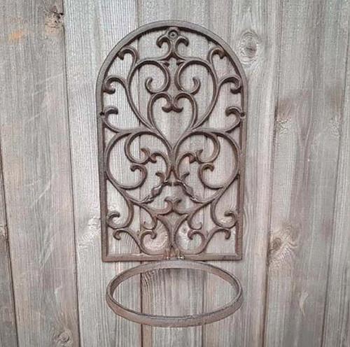 Cast Iron Pot Holder Garden Home Ornament
