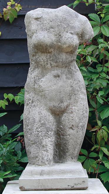 Stone Limestone Torso Garden Ornament Classical Large Statue