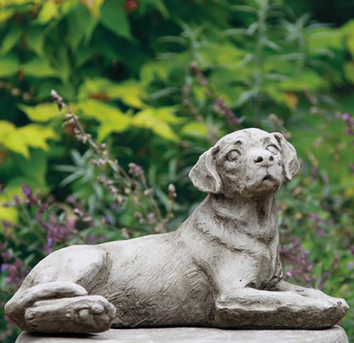 Stone Limestone Labrador Dog Garden Ornament Statue