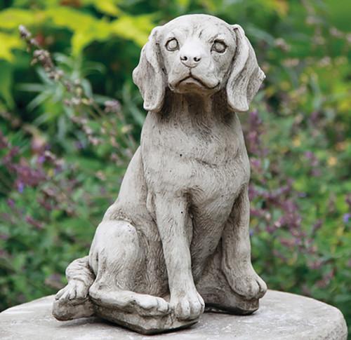 Stone Beagle Dog Garden Ornament Limestone Statue