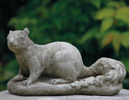 Stone Squirrel Garden Ornament Statue