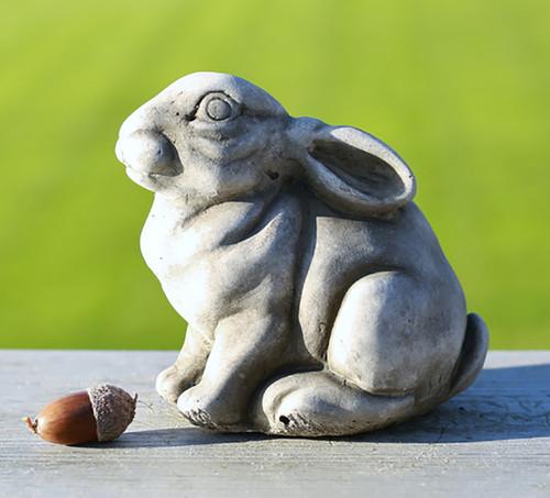 Stone Bunny Rabbit Garden Ornament Statue