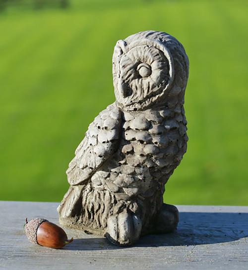 Stone Barn Owl Garden Ornament Statue