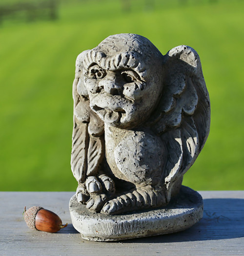 Stone Winged Gargoyle Garden Ornament Statue