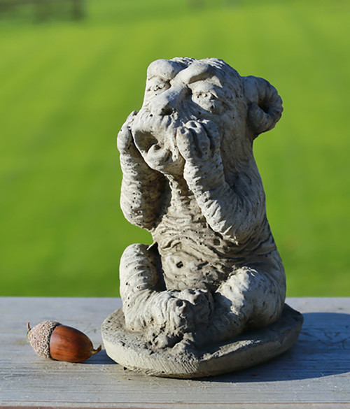 Stone Ram Gargoyle Garden Ornament Statue
