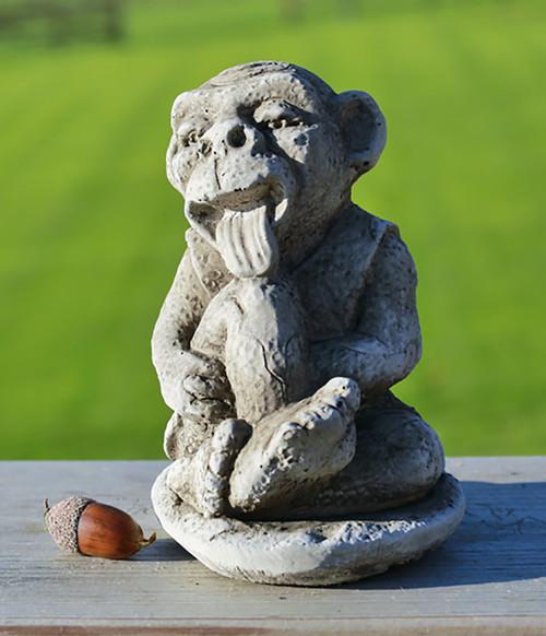 Stone Licking Gargoyle Garden Ornament Statue