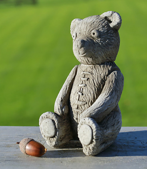 Stone Teddy Bear Garden Ornament Statue
